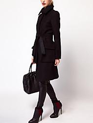 Women's Coats & Jackets , Wool Blend HAODUOYI