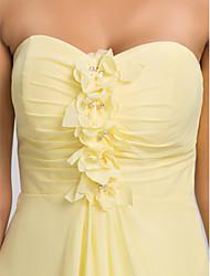 Heimkehr asymmetrischen / knielangen Kleid Brautjungfer - Narzisse Übergrößen ein Online-Schatz