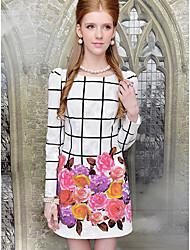 Women's Dresses , Polyester/Spandex Casual/Work DABUWAWA
