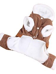 Kapuzenshirts / Hosen für Hunde Braun Winter XS / S / M / L / XL Baumwolle