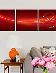 """12 """"-24"""" Country Style Red Orologio da parete in tela 3pcs"""