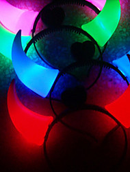 clignote éclatante cornes de diable collier de tête pour les animaux chiens (couleur aléatoire)