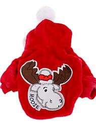 Hunde Mäntel / Kapuzenshirts Rot / Blau Hundekleidung Winter Weihnachten