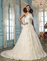 Lanting Bride® A-line Petite / Plus Sizes Wedding Dress - Classic & Timeless / Elegant & Luxurious Vintage Inspired Sweep / Brush Train