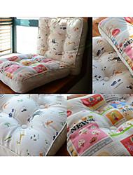 Cartoon Style Animal Newspaper Design Chair Pad