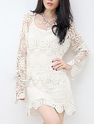 Women's Lace/Solid White T-shirt Lace