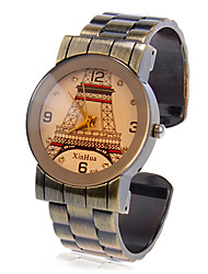 Women's Eiffel Tower Design Quartz Movement Analog Bracelet Watch