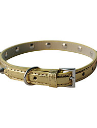 Dog Collar Adjustable/Retractable / Studded / Rivet Red / Black / White / Blue / Brown / Pink / Purple / Gold PU Leather