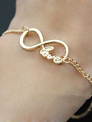 Shixin® Love Word Letters Infinite Infinity Chain Bracelet Christmas Gifts