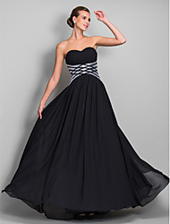Formal Evening/Military Ball Dress - Black Plus Sizes Sheath/Column Sweetheart Floor-length Chiffon