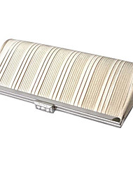 Colormoon Frauen Strips Cream Party Clutch Bag