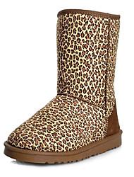 Frauen Mittler-Kalb Leopardenmuster Boots