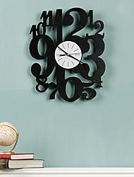 "15 ""H Style Number Mute Horloge murale"