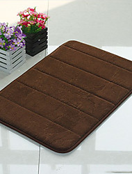 "Bath Mat Memory Foam Stripe Pattern 16x24"" Brown"