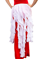 Belly Dance Hip Scarves Women's Training Chiffon Ruffles 1 Piece Hip Scarf