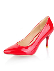 Patent Leather Stiletto Heel Pumps With Shoes(More Colors)