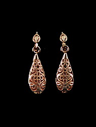 Gold Plated Alloy Raindrop Shaped Women's Earrings