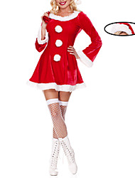 Sweet Girl Red Velvet Costume di Natale con il sacchetto del regalo