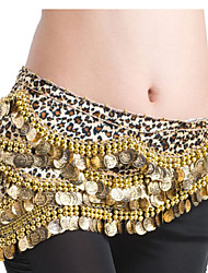 Belly Dance Belt Women's Polyester Coins / Sequins Gold Belly Dance / Ballroom Spring, Fall, Winter, Summer