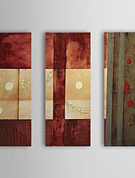 Handgemaltes Ölgemälde Abstrakt Dots mit gestrecktem Frame Set von 3 1311-AB1040