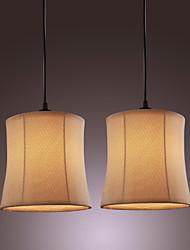 60w luz pingente moderno, com luz de solo tecido sombra solo de bateria