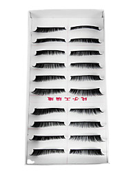10 Pairs Black Handmade Long Curl Soft False Eyelashes