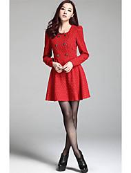 Женская волны Точка двубортный мини-платье