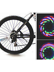 Bike Wheel Light, Spoke Light, Cycling 16 LED Bicycle Tire Wheel Valve Flash Light(32 Changes)
