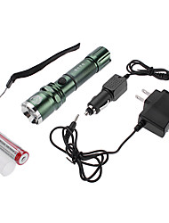 Lanterns & Tent Lights Mode 350 Lumens Adjustable Focus / Waterproof / Rechargeable Cree XR-E Q5 18650Camping/Hiking/Caving / Everyday