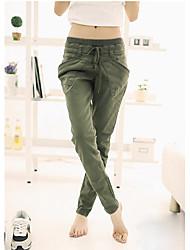 Pure Color Pantalons simple de femme