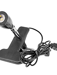 USB Free Rotation Black 35MM 1W 95LM 6000K Cool White Light LED Computer Lamp with Clip (DC5V)
