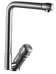 Contemporary Nickel Brushed Right Angled Heightening Kitchen Faucet