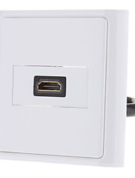 HDMI V1.3 Female to Female Wall Plate Coupler Type
