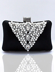 Women Other Leather Type Baguette Clutch-Purple / Silver / Black