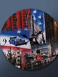 "23 ""H US En Brit Schilderen Metalen Wall Clock"