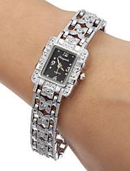 Women's Black Dial Alloy Band Quartz Analog Wrist Watch Cool Watches Unique Watches Fashion Watch