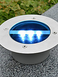 Solar Power Round Recessed Deck Dock Pathway Garden LED Light
