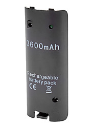 3600 mAh 3600mAh Rechargeable Battery for Wii Game (Black)