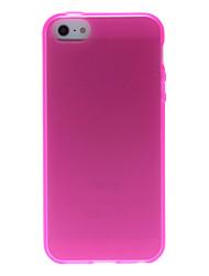 Solid Color ultra-mince étui souple en silicone pour iPhone 5/5S (couleurs assorties)