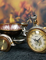 "10""Retro Type Tricycle  Style Polyresin Tabletop Clock"