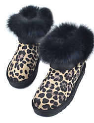 Suede Flat Heel Snow Boots Ankle Boots