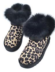 Camurça salto liso Botas neve Ankle Boots