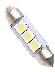 3 СИД 5050 SMD 36mm салона Купол гирлянда Белый лампочки