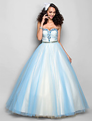 TS Couture Prom Formal Evening Dress - Open Back A-line Sweetheart Floor-length Tulle with Crystal Detailing Sash / Ribbon Side Draping