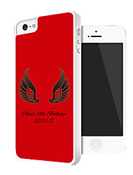 Personalized Wing Pattern Back Case for iPhone 5/5S (Assorted Color)