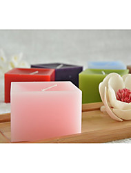 Square Style Pillar Candles With Gift Box 4pcs Set
