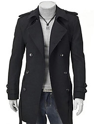 Men's Fashion Fitted Tweed Coat