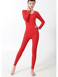 Básico fibra de bambu conjunto underwear térmico