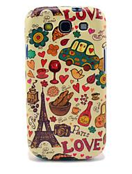 Eiffelturm & Brot Glossy-TPU für Samsung Galaxy S3 I9300