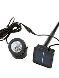 6-LED kühles weißes Licht LED Outdoor solarbetriebene LED-Scheinwerfer-Lampe Wasserdicht